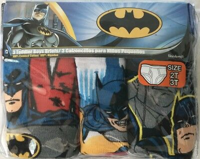 New Batman toddler boy briefs 2T-3T Underwear 3 pack 100% cotton Stocking Stuff