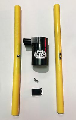 Mtc Motorsport Oil Catch Can Tank Billet Steel Reservoir Universal Yellow Vxr