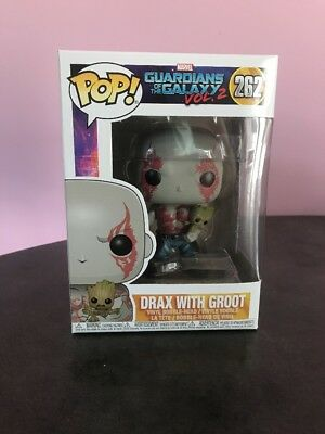 Funko Pop Guardians Of The Galaxy Drax With Groot # 262