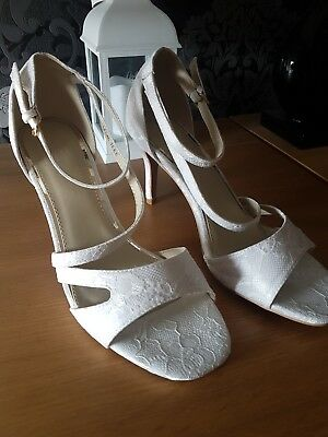 wedding shoes ivory lace sole diva size 7 wide fit