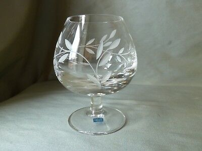 Caithness Glass Etched Crystal Brandy Glass for Toby Hotels NEW