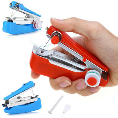 Mini Portable Hand-Held Clothes Sewing Machine Hand-Held DIY Needlework  Sewing