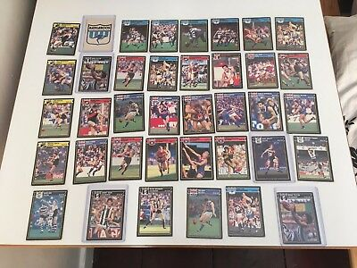 SCANLENS 1987 VFL/AFL FOOTBALL - Mixed Set and mixed condition.
