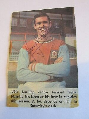 Tony Hateley signed colour Aston Villa Liverpool Notts County Chelsea Coventry