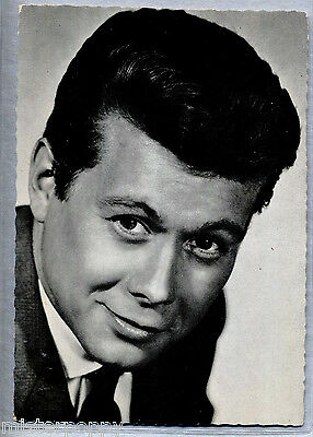 PETER WECK Cinema Star Attore Circa 1960 ITALY Real Photo PC Vera foto