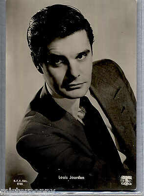 LOUIS JOURDAN Cinema Star Attore Circa 1960 ITALY Real Photo PC Vera foto