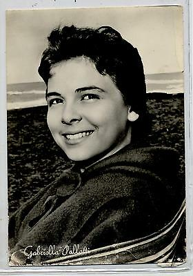 GABRIELLA PALLOTTA Cinema Star Attrice 1960 ITALY Real Photo PC Vera foto