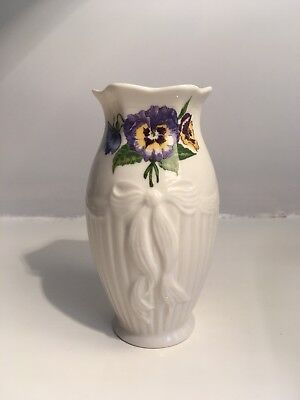 Belleek Ireland Small Floral Vase