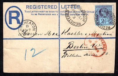 GB 1889 QV Registered Cover to Berlin