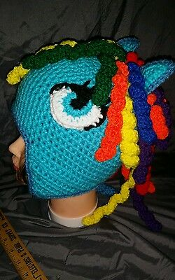 Crocheted child size my little pony inspired earflap hat 279