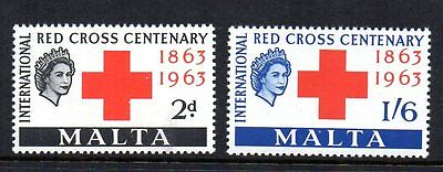Malta 1963 Red Cross Sg 312-313 Unmounted Mint