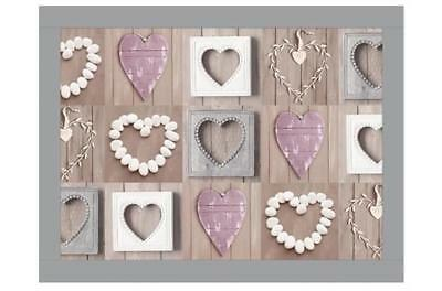 Lap Tray: Faux Leather Frame - Pebble Heart