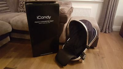 Icandy Peach 3 Converter Seat Black Used for Double Buggie Good Condition