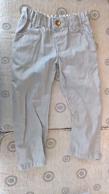 Boys Beige Chinos Trousers Age 2-3 Years, M&S, adjustable waist