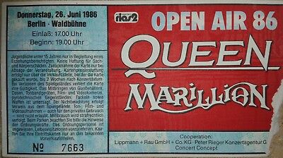 Queen - Ticket Stub (Donnerstag: Berlin: Waldbuhne - June 26th, 1986)