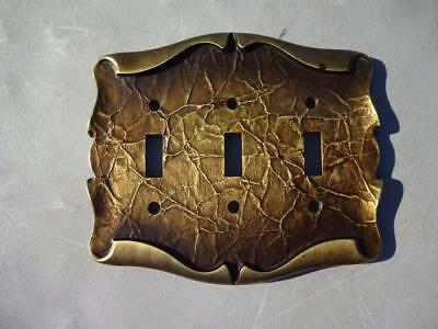 Amerock Carriage House Light Triple Switch Plate Cover.