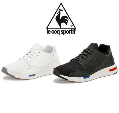 pretty nice 16676 16bfd Le Coq Sportif Mens LCS R Pure Trainers, Black or White Sport Casual Shoes