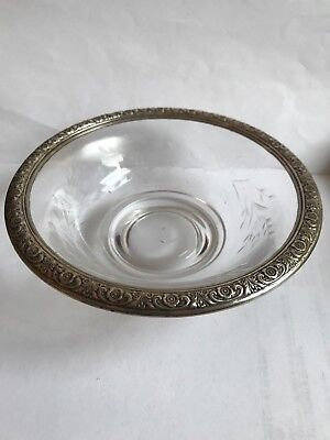 Sterling Silver And Cut Glass Candy Dish By International Sterling D322 Prelude