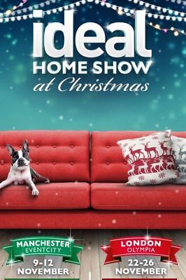 """""""wow"""" 2 Tickets For Ideal Home Show London Thursday 23Rd November 2017"""