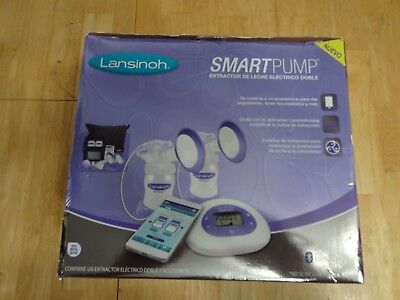 Lansinoh Smart  Electric Breast Milk Pump Double Bluetooth App W/accessories New