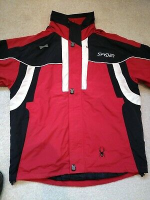 Spyder mens ski jacket, red/black/white uk 44, eu 54