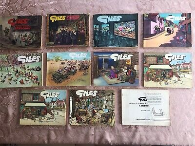 Giles Cartoon Books various years original and includes 1944-46 1953-54
