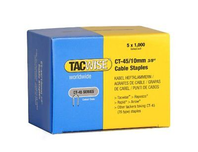Tacwise CT-4510mm Cable Tacker Staples 5,000 5 x 1,000 packs