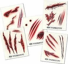 Temporary Tattoos 5 sheets - NitefallTM Wounds
