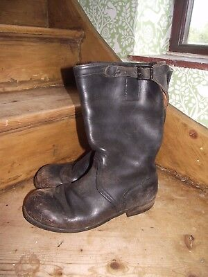 Vintage German Army Jack boots Engineer Boots size 8