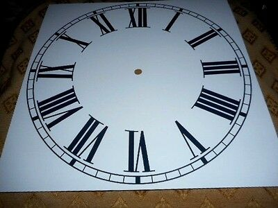 "Large Paper Clock Dial - 12"" M/T- Roman Numerals- Matt White - Face/ Clock Parts"