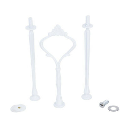 3-Tier Crown-Pattern Stand Fitting for Cupcake/Fruit/Dessert Plate P8T5 U7Q1