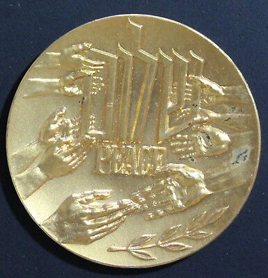 Israel, Pray For the Peace of Jerusaelm, Judaica, Medal, Coin in Case #a1872