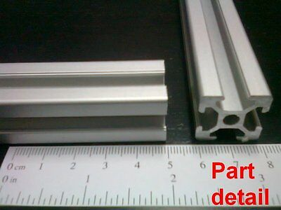 Aluminum T-slot extruded profile 20x20-6mm  Length 450mm, cust. 4 pieces set