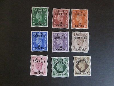 British Occupation of Former Italian Colonies 1950 BA Somalia O/P s MNH