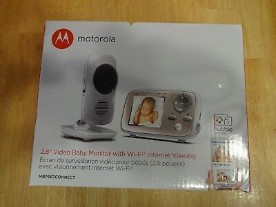 "Motorola MBP667 Connect Digital Video Color Screen Baby Monitor W/Wi-Fi 2.8"" NEW"