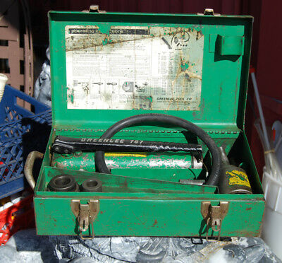 Vintage Greenlee 7306 Hydraulic Knockout Punch Driver Set 767