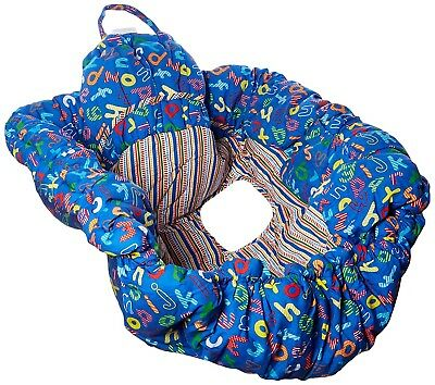 Floppy Seat Shopping Cart and High Chair Cover, Blue ABC