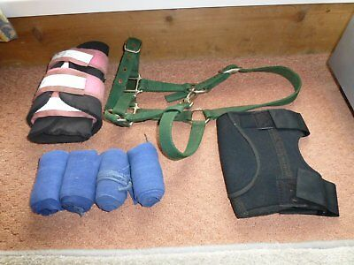 Joblot of various bandages and boots full size and cob plus headcoller