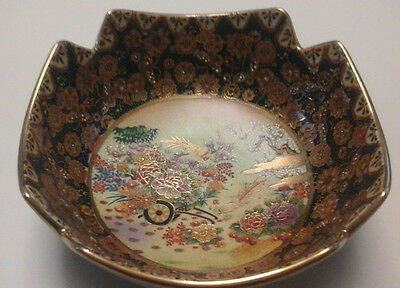 Vintage  Made In China Hand Painted Decorative Bowl 9.5 In