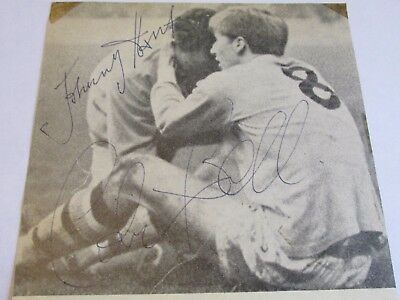 Colin Bell & Johnny Hart Manchester Man City b & w picture signed by both c1967