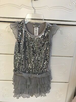 Guess Brand--Girl size 5/6--silver dress winter holiday---Mint