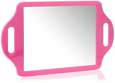 Matty Bond Street Hairdressing Beauty Salon Mirror with Twin Handle Pink