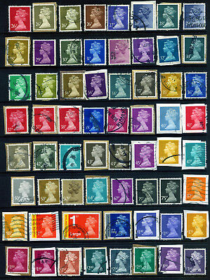 GB DECIMAL MACHINS 26p TO £3.00 FROM 1971 : 63 STAMPS GOOD TO FINE USED