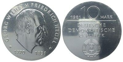 10 Mark Ddr 1981 Hegel