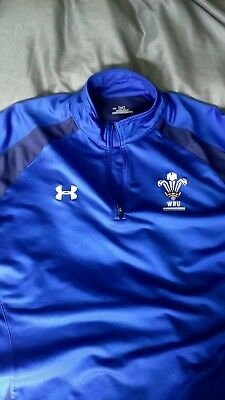 Under Armour,coldgear,welsh Rugby Union, Training Top,worn Once