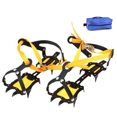 Hot Crampons Anti-Slip Strappy Gripper Spikes Outdoor Ice/Snow Climbing Cleats