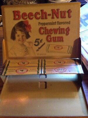 1920's Or 1930's Beechnut Chewing Gum Metal Country General  Store Display