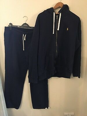 Polo Ralph Lauren Mens Size XL Navy Tracksuit Joggers & Cardigan