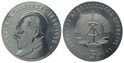 5 Mark Ddr 1989 Ossietzky