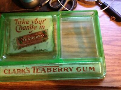 1920's Or 1930's Clarks Teaberry Chewing Gum Glass Country General Store Display